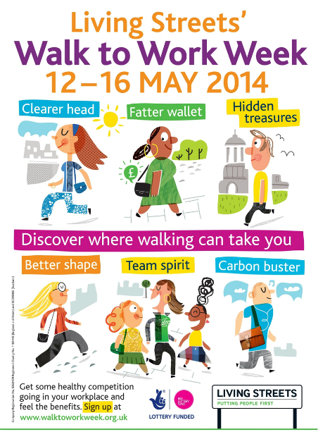 Walk to Work Week A4 poster