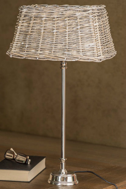 Metal & Wicker Table Lamp, DesResDesign £78.00