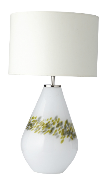 White & Green Lamp, HomeSense £29.99