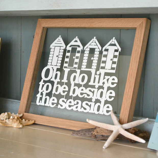 'Beside The Seaside' Papercut, Not on the High Street £22.00