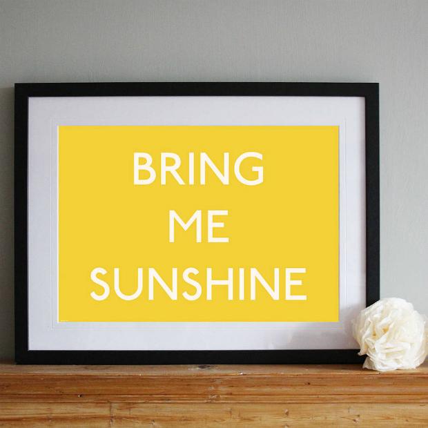 'Bring Me Sunshine' Nostalgic Art Print, Not on the High Street £15.00