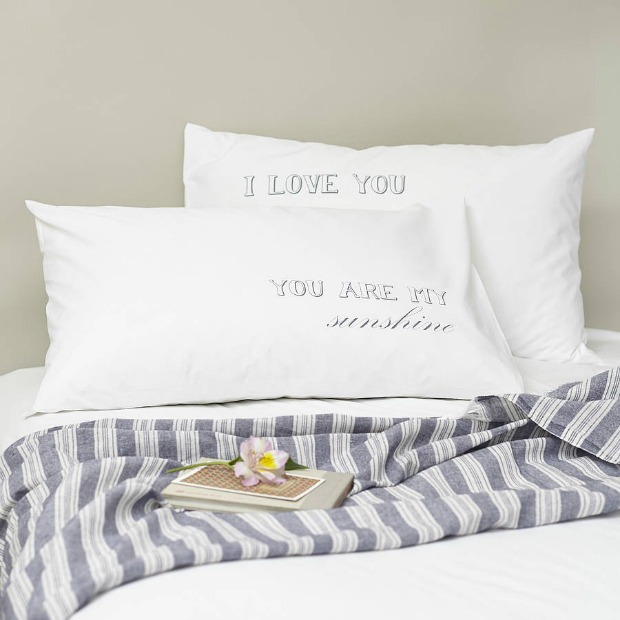Pair Of 'You Are My Sunshine' Pillowcases, Not on the High Street £23.75