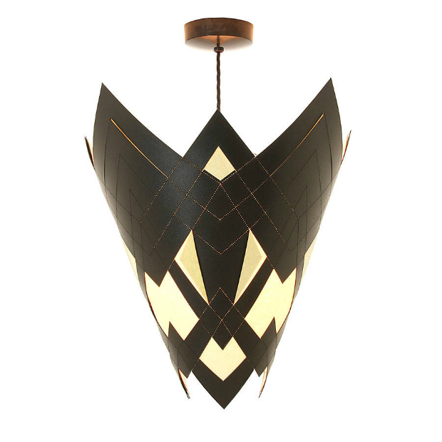 Geometric Art Deco Taper Lampshade, Not on the High Street £129.95
