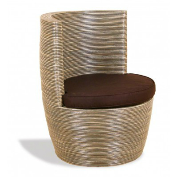 Grey Rattan Ridge Round Tub Chair, Galaxy Stores £263.00