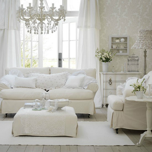 White Living Room, House to Home