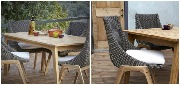 Retro Rattan Effect Dining Set, B&Q £675.00
