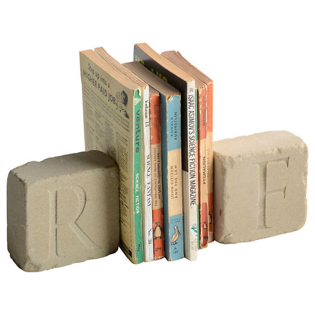Letterfest Personalised Engraved Yorkstone Bookends, John Lewis £37.95