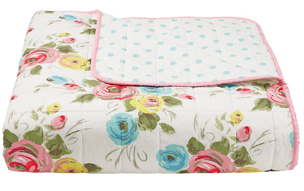 Cath Kidston Painterly Rose Bedspread, John Lewis £145.00