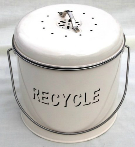 Cream enamel recycle kitchen storage tin, Amazon £16.00
