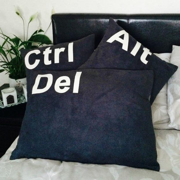 Ctrl Alt Del Cushion Covers, eBay £14.99