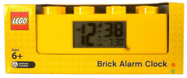 LEGO Brick Alarm Clock Yellow, Lego Watches £19.99