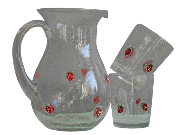 Strawberry Jug & Tumblers, Berry Red £6.50
