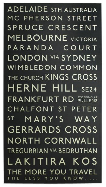 Personalised Destinations Canvas, Betsy Benn Designs £380.00