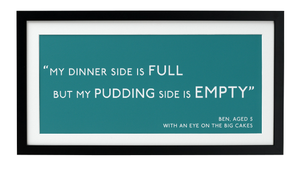 Personalised Quotation Print, Betsy Benn Designs £32.00