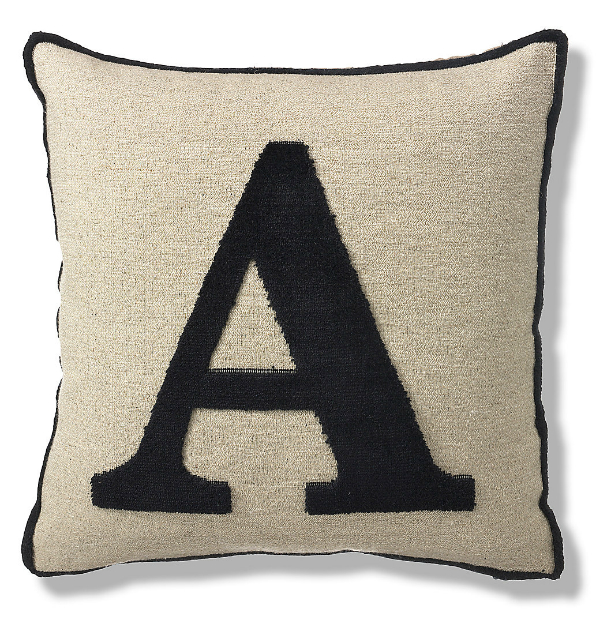 Letter A Cushion, Marks and Spencer £10.00
