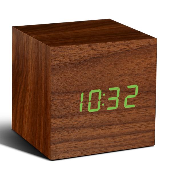 Click Clock Small Walnut LED Alarm Clock, Cotswold Trading £25.00