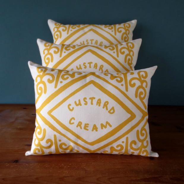 Custard Cream Cushion, Nikki Mcwilliams £29.50