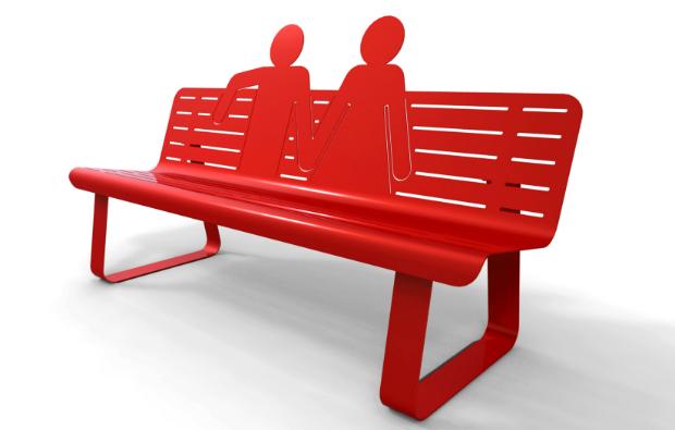 TOI ET MOI metal bench, Darwinshome.com £1307.00