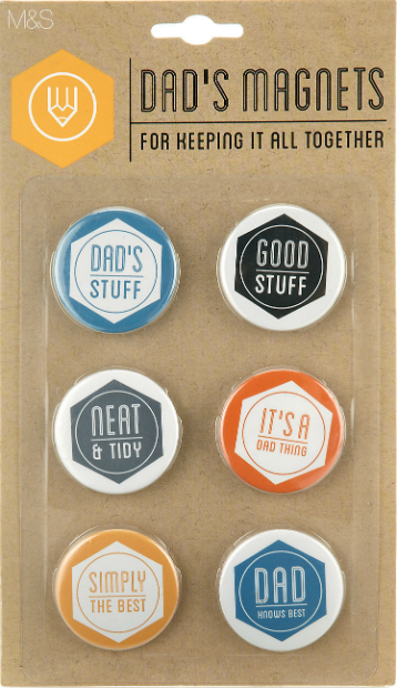 6 Dad Magnets, Marks and Spencer £6.00