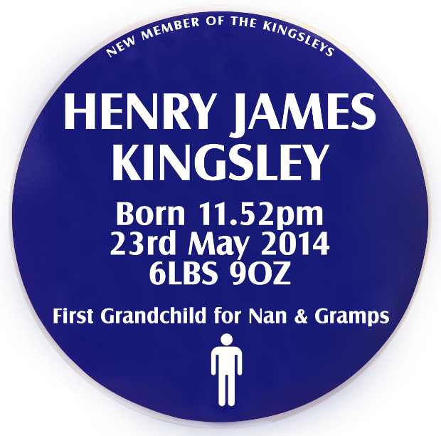 Personalised Baby Heritage Sign, Jonny's Sister £28.00