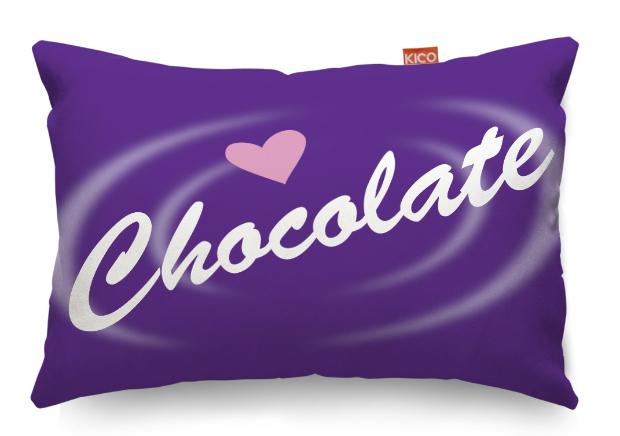 Chocolate Small Cushion, KICO Products £11.99