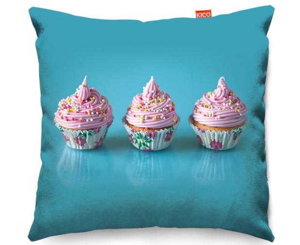 Pink Cupcakes Cushion, KICO Products £19.99