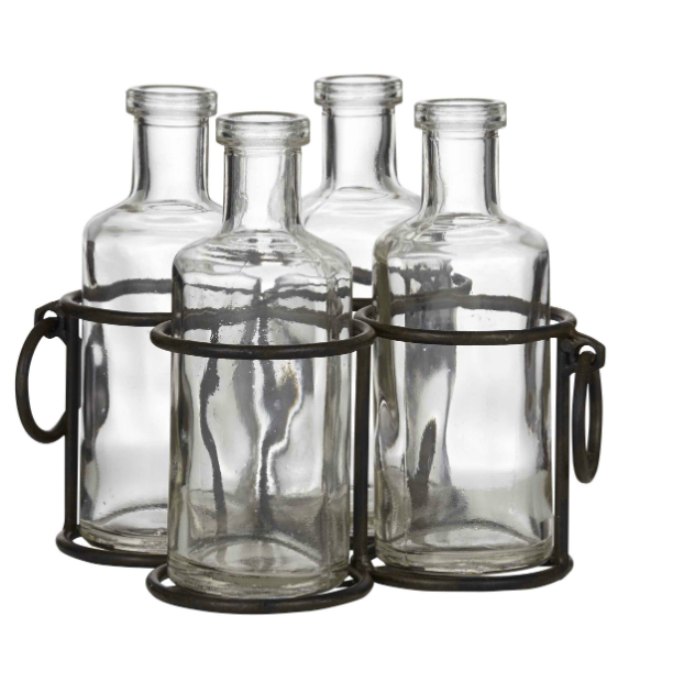 Rustic Country Glass Bottle Herb Vase, Lifestyle Home and Living £29.99