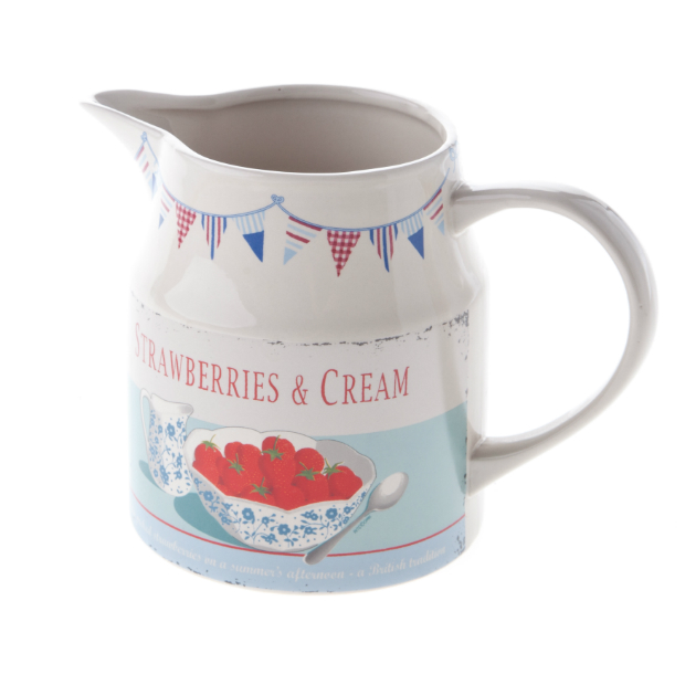 Martin Wiscombe Strawberries and Cream Jug, Mollie and Fred £12.99