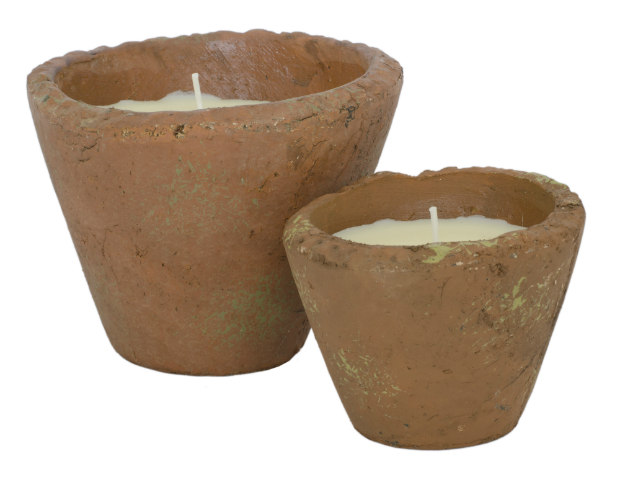 Rustic Flower Pot Style Scented Candles, One Brown Cow from £4.95