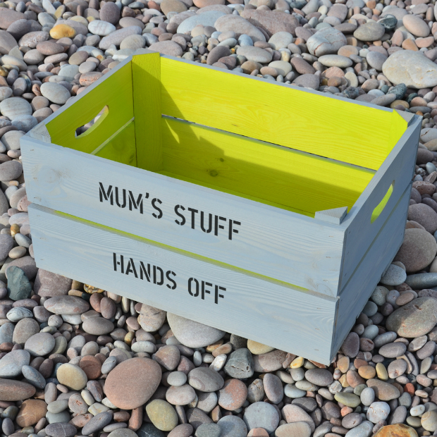 Two Tone Personalised Wooden Crate, Plantabox £34.95