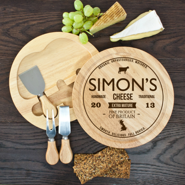 Personalised Cheese Board Set, Prezzybox.com £29.95