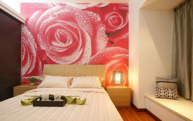Rose Wallpaper for Bedroom