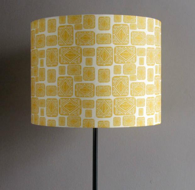 Custard Cream Printed Fabric Lampshade, Nikki McWilliams £58.00