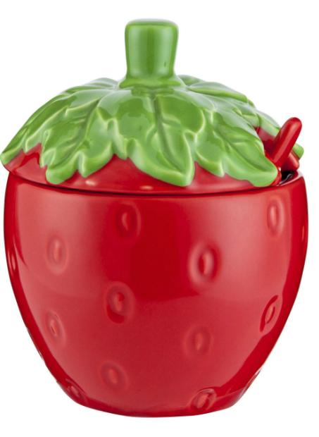 Strawberry Jam Jar Set & Spoon, Tesco £5
