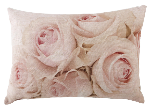 Pink & Ivory Rose Cushion, Tesco £8.00