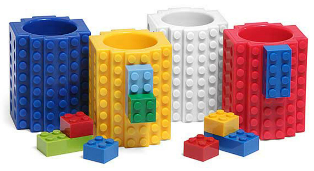Build-On Brick Shot Glass 4-Pack, The Gift Oasis £23.99