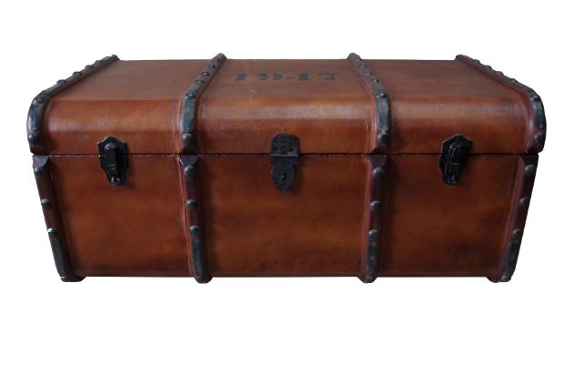 Leather and Wood Trunk, Vincent and Barn Ltd £185.00