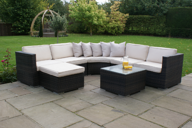 Barcelona Corner Sofa Set, White Stores £899.00