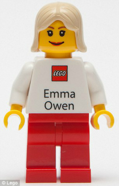 Lego Figurine Business Cards, as Featured in the Daily Mail