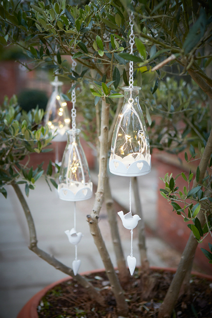 Decorative Hanging Glass Bottles with LED Lights, DesRes Design £14.00