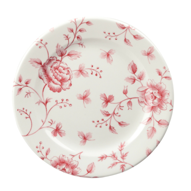Churchill Vintage Cranberry Rose Plate