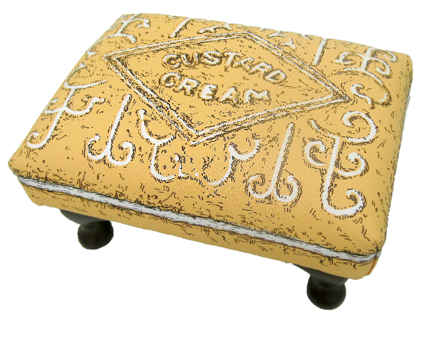 Custard Cream Biscuit Footstool, Hunkydory Home £99.00
