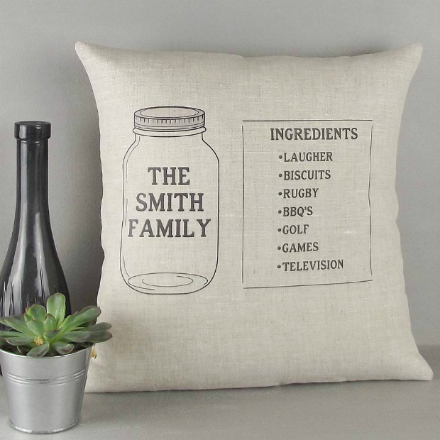 ' Family Recipe ' Personalised Cushion, Not on the High Street £27.20