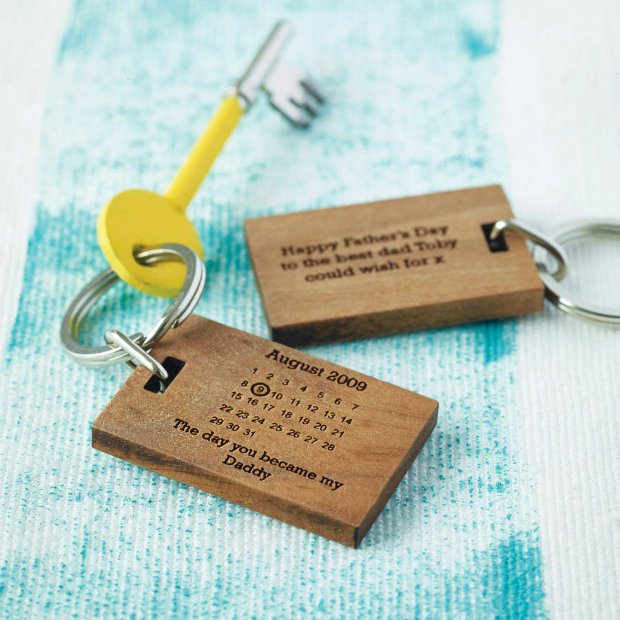 Personalised 'The Day You Became My…' Key Ring, Not on the High Street £13.00