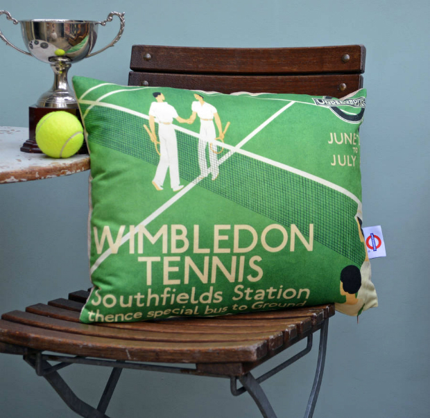 Wimbledon Tennis Cushion, Not on the High Street £34.00