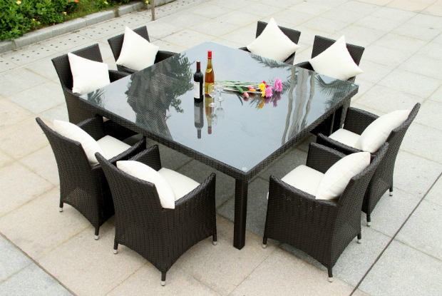 Verona 8 Seater Rattan Dining Table and Chairs, Rattan Outdoor Furniture  £1595