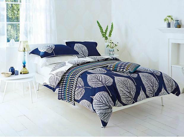 Harlequin Leaves Bedding, Blue, John Lewis £12.00 - £66.00