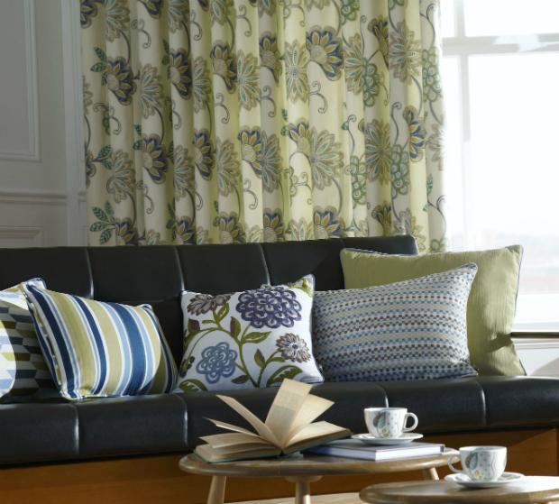 Adara Indigo, A flamboyant tropical floral print, HandmadetoMeasure.com £41.24