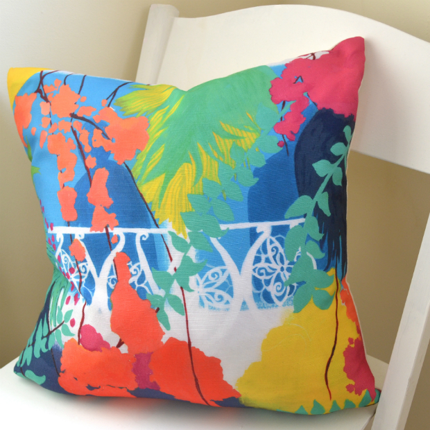Stone Town Colours feather cushion, Blooming Briony £65.00