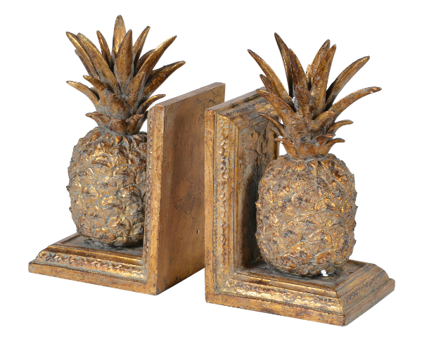 Brushed Gold Pineapple Bookends, Adventino £42.95